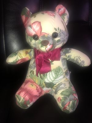 """Vintage 1988 Floral Pattern Marquel Plush Bear 10""""Rare Toy Stuffed Bear for Sale in Hayward, CA"""