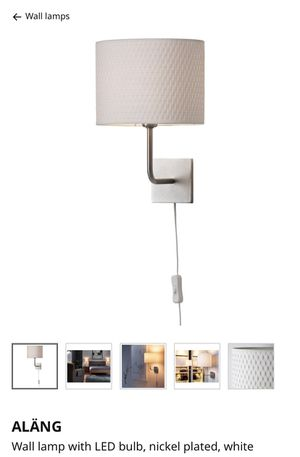 Ikea alang wall lamp - set of 2 - price for both for Sale in Orlando, FL