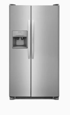 Frigidaire 22-cu ft Side-by-Side Refrigerator with Ice Maker (EasyCare Stainless Steel)/ Gray for Sale in Ellenwood, GA