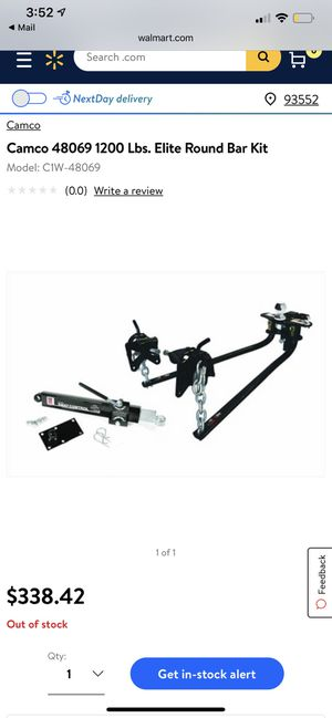 Camco 1200 lbs elite round bar kit with sway control for Sale in Palmdale, CA