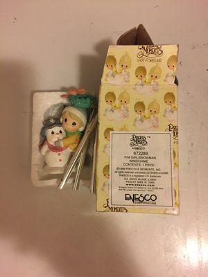 Precious moments girl /snowman wind chime for Sale in Fresno, CA