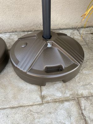 Umbrella stand / base, prefilled with sand for Sale in Downey, CA