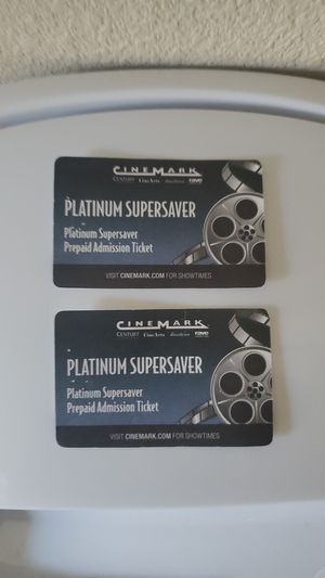 2 Cine Mark Tickets for Sale in Redwood City, CA