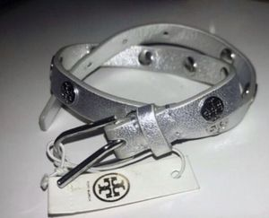 New TORY BURCH Silver Leather Wrap Bracelet for Sale in Alexandria, VA