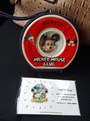 Mickey Mouse Club Member Purse & Pin! Vintage for Sale in Houston, TX