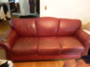 FREE Burgundy Sofa, Genuine Leather for Sale in Macon, GA