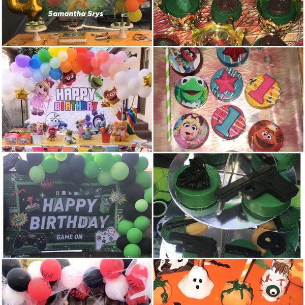 Balloon Decorations And Party Sweets 🎉🎈🍫