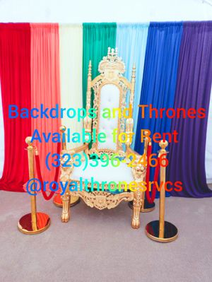 Throne and Backdrop Available for Sale in Los Angeles, CA