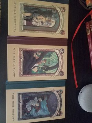 A series of unfortunate events hardback books 1.2.3 for Sale in Clovis, CA