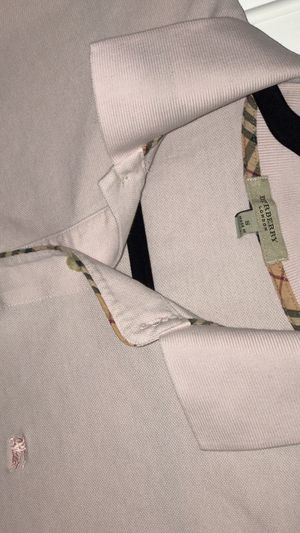 Burberry men polo size shirt medium for Sale in Houston, TX