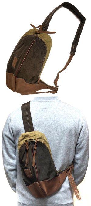 NEW! Leather Crossbody Sling Bag Travel Bag gym bag work bag wallet cell phone carrier school bag shoulder bag side bag for Sale in Carson, CA