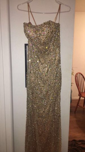 Gold strapless prom dress for Sale in Norwalk, CA
