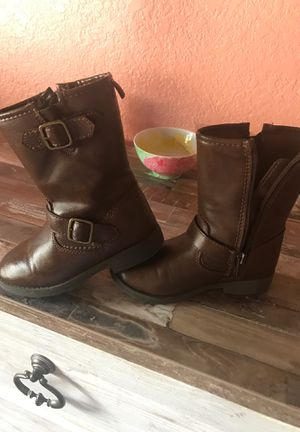 Toddler girl carter boots size 10 for Sale in Seffner, FL