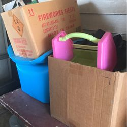2 Box's And One Container Of Stuff For Free Pick Up for Sale in Waco,  TX