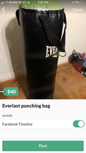 Everlast punching bag 70 lbs for Sale in Los Angeles, CA