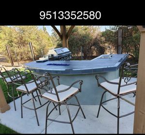 Bancos construction grill bbq islands cement for Sale in Riverside, CA