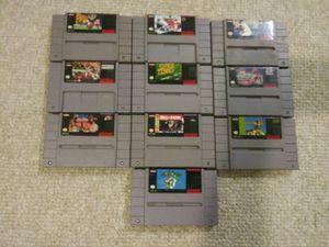 SUPER Nintendo SNES game bundle. for Sale in Elkridge, MD