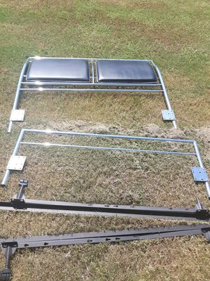 Black and silver Full size head and foot board for Sale in Claremore, OK