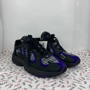 Adidas Yung-1 Purple Plaid Men's Shoes Size 9.5 EF3965 New for Sale in Peoria, IL