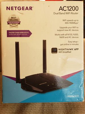 Netgear AC1200 Dual Band WiFi Router- (R6120) for Sale in North Springfield, VA