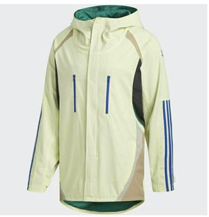 Adidas x Alltimers Discovery Hooded Parka Jacket Yellow EC3311 Men's Sz M for Sale in Los Angeles, CA