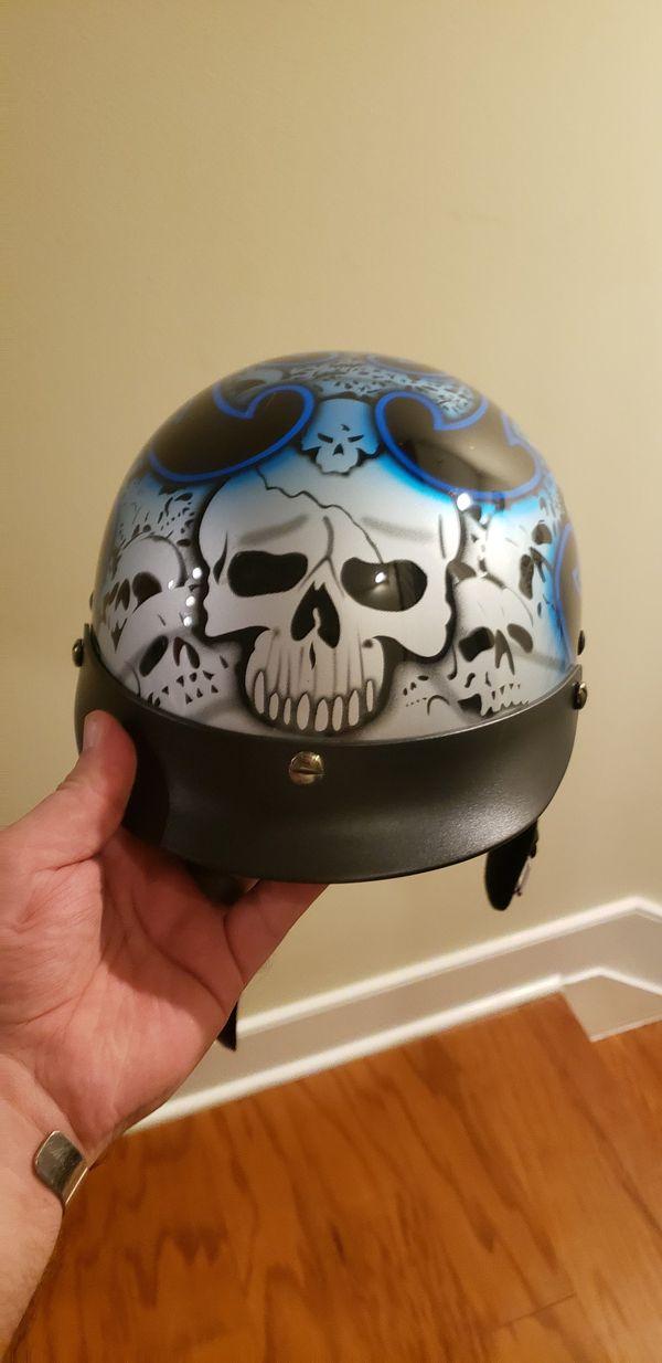Motorcycle Helmet, skullcap, great looking!