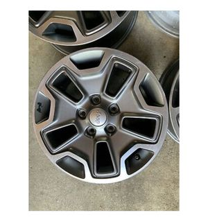 Jeep rubicon wheels 5x5 or 5x4.5 to 5x5 adapters for Sale in Redlands, CA