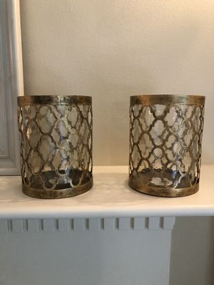 Pier 1 Candle holder / votives. Beautiful mantle decor. for Sale in Wilbraham, MA