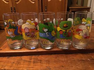 Charlie Brown drinking glasses for Sale in Portland, TN