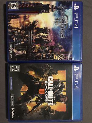 Kingdom Hearts 3 & Black ops 4 for Sale in Bakersfield, CA