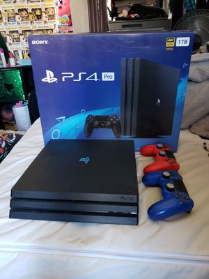 PS4 Pro with 2 controllers for Sale in Los Angeles, CA