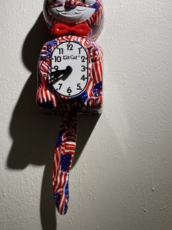 The Original Limited Edition Americana Battery Operated Kitty Cat Wall Clock for Sale in Suffolk,  VA