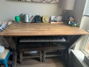 Dining room table and 2 stools for Sale in Falls Church, VA