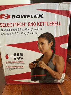 Bowflex SelectTech 840 Adjustable Kettlebell 8 to 40 lbs. - Brand New for Sale in Rockville, MD