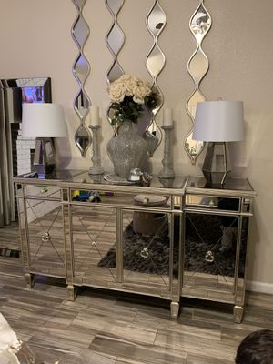 Mirrored buffet from z Gallerie for Sale in Winton, CA