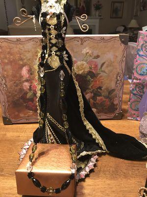 Pretty!!! Black,Green, White & Amber Stone Necklace for Sale in Gainesville, VA
