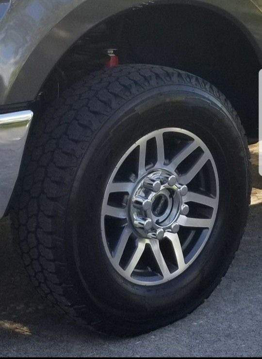4 2017 f250 wheels and tires less than 2k miles