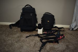 Camera gear - Camera bags, camera harness, Macro extension tube, 50mm lens for Sale in Mesa, AZ