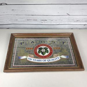 """Pabst brewing 150 years of quality mirror sign 20 x 14"""" for Sale in Los Angeles, CA"""
