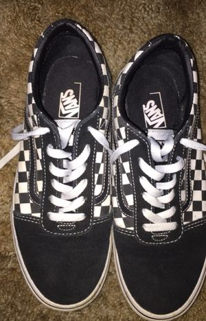 Checkered Vans For Boys (Size 5) for Sale in Redding, CA