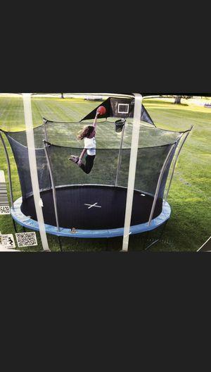 "Brand new in box ""14 ft"" propel heavy duty pro trampoline with basketball hoop for Sale in Cinnaminson, NJ"