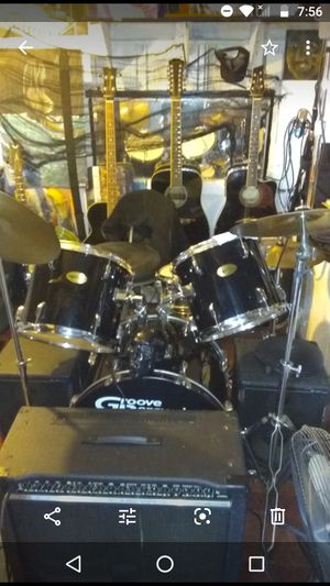 Groove percussion drum set, new heads no rust for Sale in Port Richey, FL