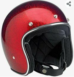 biltwell bonanza wine red mega flake helmet for Sale in San Jose,  CA