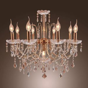 BAND NEW Elegant Candle Style Crystal Chandelier with 9 Lights Pendent Light Ceiling Light Fixture for Living Room Gold Color Bulb Not Included for Sale in Queens, NY