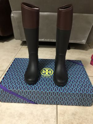 Authentic Tory Burch women rain boots size 5 for Sale in Pembroke Pines, FL
