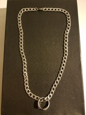 Stainless steel cuban chain with f off ring pendant. for Sale in Middletown, CT
