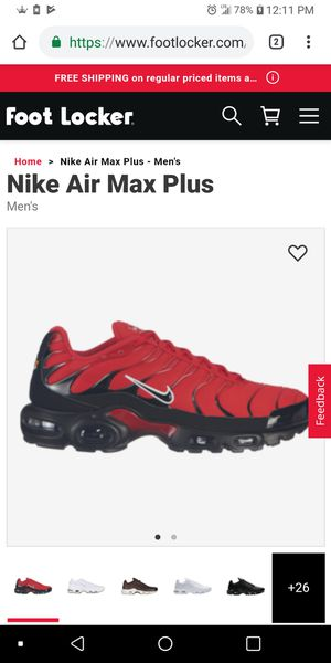 TN Air Max Red/Black (GIRLS) for Sale in Jersey City, NJ