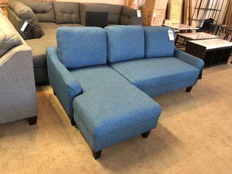 Ashley blue fabric sleeper sectional sofa on sale for Sale in Phoenix,  AZ