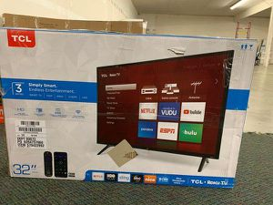 "Brand New TCL ROKU 32"" Smart Tv! Open box w/ warranty H for Sale in Anaheim, CA"