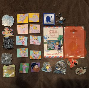 22 authentic Disney trading pins! Figment Epcot incredibles animal kingdom toy story Oswald princess LOT BUNDLE for Sale in Orlando, FL